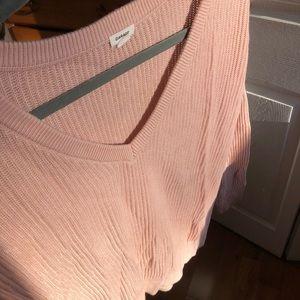 GARAGE light pink V neck pullover size XS